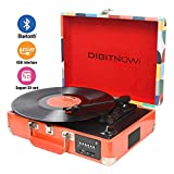 DIGITNOW! Bluetooth Record Player Belt-Drive 3-Speed Turntable...