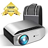 Native 1080P Projector, GooDee HD Video Projector 6000 Lux 300'...