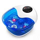 Foot Spa Massager Misiki Foot Bath with Bubbles Heat Vibration...