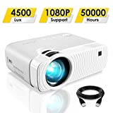ELEPHAS Projector, GC333 Portable Projector with 4500 Lux and...