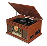 i-box Record Player Vinyl Turntable with Speakers - USB MP3...