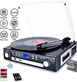 DIGITNOW! Bluetooth Record Player with Stereo Speakers, Turntable...