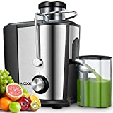 Juicer Machine, Aicook 600W Wide Mouth Juice Extractor Juicers...