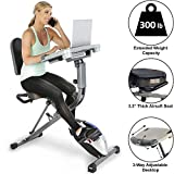 Exerpeutic WorkFit 1000 Fully Adjustable Desk Folding Exercise...