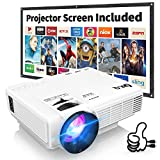 DR.Q HI-04 Projector with Projection Screen 1080P Full HD and...