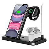 QI-EU Wireless Charger, 4 in 1 Qi-Certified Fast Charging Station...