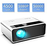 Mini Projector, ELEPHAS Video Projector 4500 lux with 50,000 hrs...