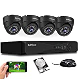 [TRUE 1080p] SANSCO HD CCTV Security Camera System, 4 Channel 5MP...