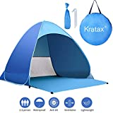 Kratax Pop Up Beach Tent for 1-3 Person,Rated UPF 50+ for UV Sun...