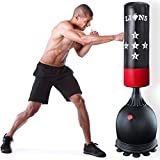 Lions Free Standing 5.5ft Punch Bag Boxing Stand Martial Arts...