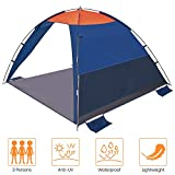 Asteri POP UP Beach Tent 2 Person Anti-UV 50+ Sun shelters...