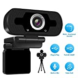 1080P Full HD Webcam with Webcam Cover,Computer Laptop Camera for...