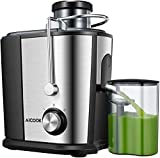 Juicer Machine, Aicook 600W Whole Fruit and Vegetable Juicer...