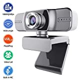 THUSTAND HD Webcam, 1080P Streaming Webcam with Microphone,...