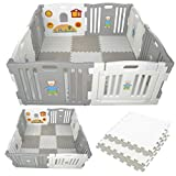 Millhouse Plastic Baby Playpen with Activity Panel with Play Mats...
