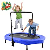 ANCHEER Trampoline for Two Kids, Max Load 100kg, Includes Handle...