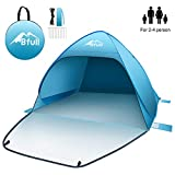 BFULL Pop Up Tent Beach Tent for 2-4 Man, Automatic Sun Tents...