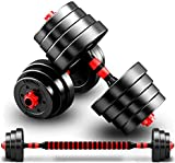 Rich Taste 20/30KG Dumbbells Barbell Set With Connecting Rod...