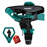 WISDOMWELL Pulsating Long Range Lawn Impact Sprinkler Head With...