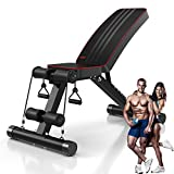YoleoStore Utility Adjustable Weight Bench -2020 Version -for...