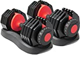 Strongology Home Fitness Adjustable Smart Dumbbells Pair from 2kg...
