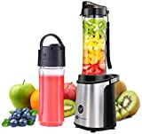 Blender Smoothie Maker, Personal Mini Blender with 2x600ml...