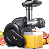 Juicer Machine, Aicok Slow Masticating Juicer with Reverse...