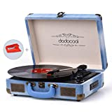 Vinyl Record Player, dodocool Vintage Turntable 3-Speed with Blue...