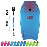 BPS 37' Bodyboard Blue/Orange - with Coiled Leash and Fin Tethers...