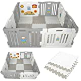 Millhouse Plastic Baby Playpen Activity Panel Play Mats Included...