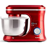 VonShef Red Food Mixer - Stand Mixer with 8 Speeds 4.5 Litre...