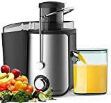 PureMate Juicer Machines, 600W Whole Fruit and Vegetable Juice...
