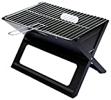 Notebook Folding Grill - Portable Picnic BBQ with Chrome Plated...