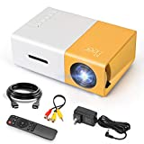 MEER Mini Projector,Small Colored LED Portable with HDMI USB AV...
