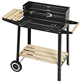 Superworth Trolley Charcoal Rectangular Steel BBQ Barbecue Grill...