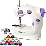 Mini Sewing Machine Adjustable 2-Speed with Foot Pedal, Dual...