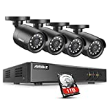 ANNKE 8+2CH 5MP H.265+ DVR Outdoor Security Camera System, 4x...