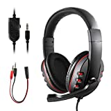 Gaming Headset for PS4 Xbox One, JAMSWALL&L 3.5mm Wired Over-head...