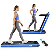 COSTWAY 2 in 1 Folding Treadmill, Under Desk Motorized Treadmill...