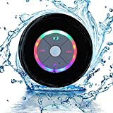 JUSTOP Rainbow LED Bluetooth Shower Speaker With FM Radio, IP67...