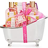 Spa Luxetique Spa Gift Set, Rose Bath Set, Valentines Gifts for...
