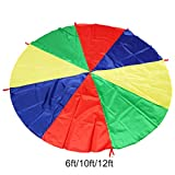 Singeru 8 Colour Rainbow Parachute Kids Game Play Parachute with...