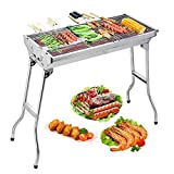Uten Barbecue Grill Stainless Steel BBQ Charcoal Grill Smoker...