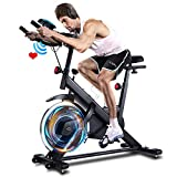 ANCHEER Indoor Exercise Bike, Cycling Bike Stationary with Heart...