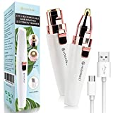 Rechargeable Eyebrow Trimmer & Facial Hair Remover for Women, 2...