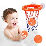 ENTHUR Bath Toy Fun Basketball Hoop & Balls Set for Boys and...