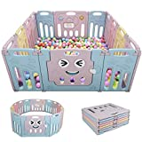 Baby Playpen 14 Panel Foldable Fence Activity Center Safety...