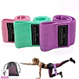 Sport Resistance Exercise Bands Non Slip for Glute and Hip...