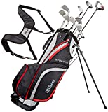 Wilson Beginner Complete Set, 10 golf clubs with stand bag, Men's...