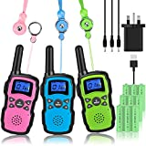 Wishouse Kids Walkie Talkies Long Distance Rechargeable 3 Pack...